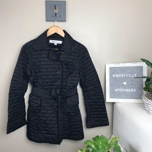 Laundry By Design XS Black Quilted Tied Jacket
